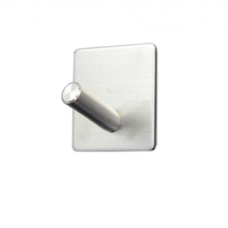 Adhesive Hook In Brushed Steel