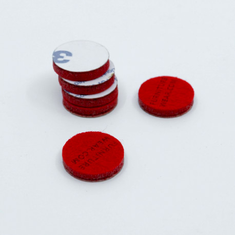 Self Adhesive Felt Pads in Red Colour