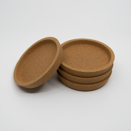Coasters in cork, save your table from burn marks