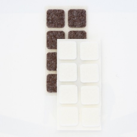 Felt Chair Pads, Self Adhesive Pads in Squared shape for all kind of Furniture